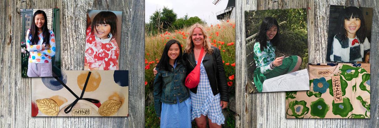 Velkommen til Liz+Lily. Vi sælger kunst på tøj til børn